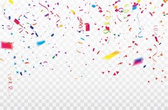 Celebracja wstążki konfetti ramki.