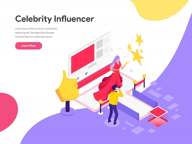 Celebrity influencer illustration concept