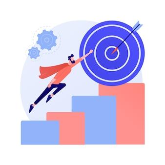 Celowy biznesmen z teczką. aspiracja, ambicja, pogoń. motywacja do kariery, startup. idea rozwoju zawodowego. innowacyjne rozwiązanie.