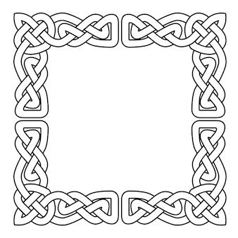 Celtycka taśma bez szwu ornament narodowy z przeplotem