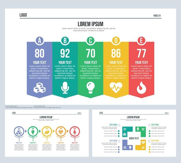 Cennik, kula, kwadrat, zestaw slajdów prezentacji i szablon powerpoint