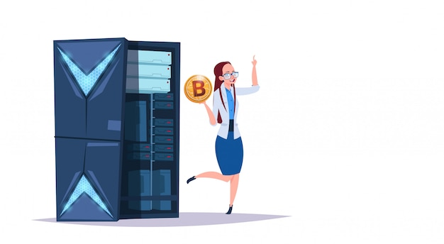 Centrum bitcoinów do przechowywania danych z serwerami hostingowymi i personelem. komputer górnictwo komunikacja wsparcie koncepcja kryptowaluty