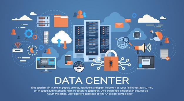 Centrum danych cloud połączenie komputera hosting baza danych serwera synchronizacja technologii