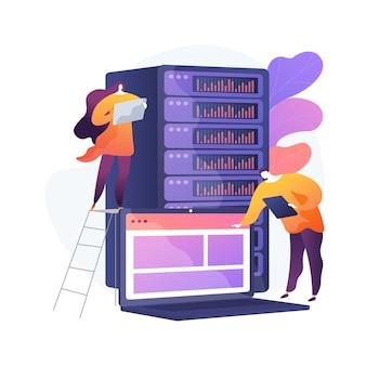 Centrum danych streszczenie ilustracja koncepcja