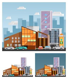 Centrum handlowe ortogonalne kompozycje