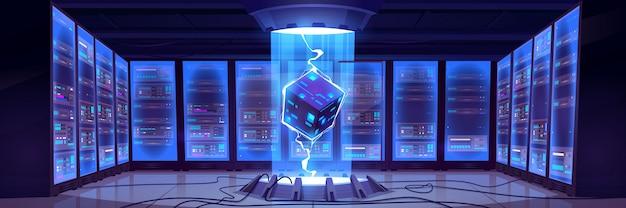 Centrum przetwarzania danych bigdata kreskówek