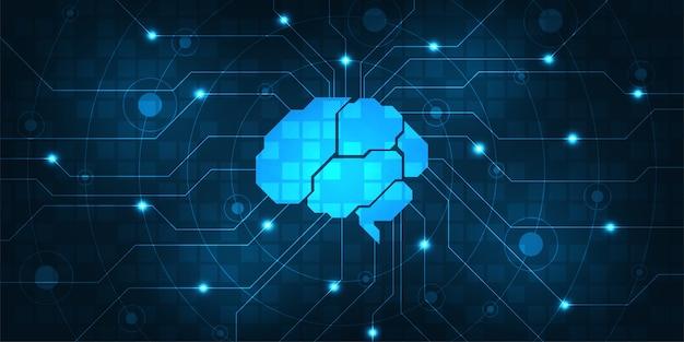 Centrum systemu cyfrowego kontrolowanego przez mózg.