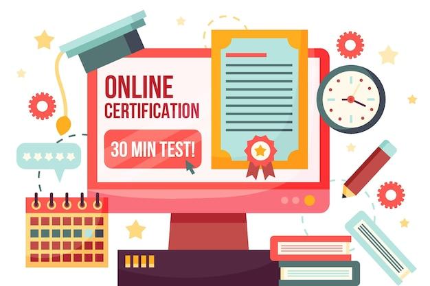 Certyfikacja online książek i komputera