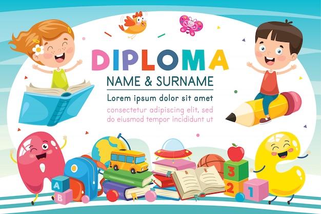 Certyfikat dla dzieci w wieku przedszkolnym w szkole podstawowej