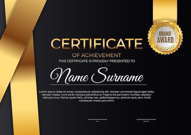 Certyfikat, dyplom szablon tło.