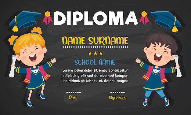 Certyfikat dyplomowy dla dzieci w wieku przedszkolnym i szkoły podstawowej