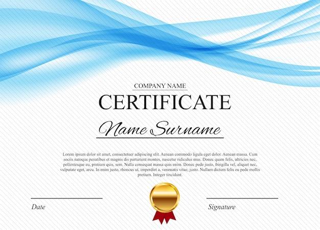 Certyfikat dyplomu szablon nagrody