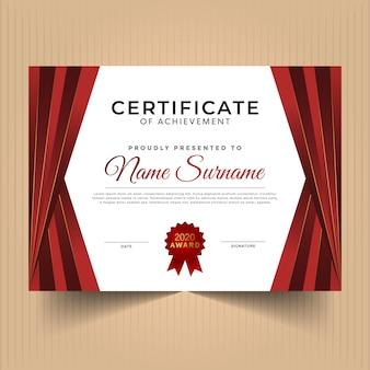 Certyfikat dyplomu z nowoczesnym wzornictwem
