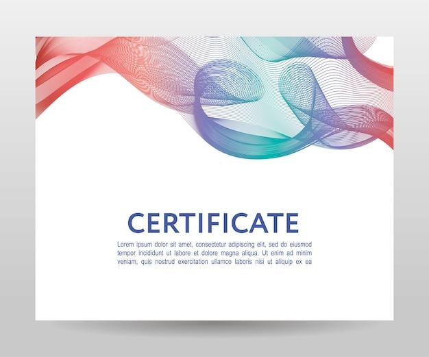 Certyfikat. dyplomy szablonowe, waluta. rama gradientowa