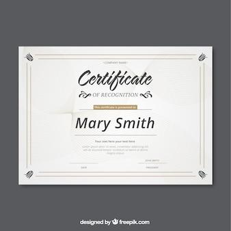 Certyfikat linii krzywej