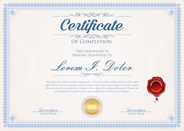 Certyfikat lub dyplom retro