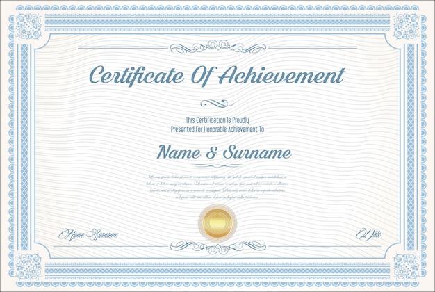 Certyfikat nowoczesnego szablonu osiągnięcia