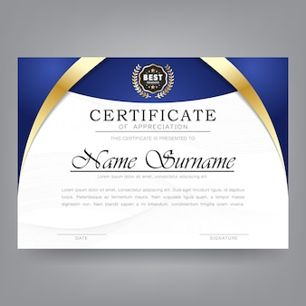 Certyfikat nowoczesnego szablonu uznania