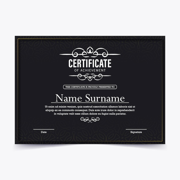 Certyfikat osiągnięć najlepszy projekt dyplomu nagrody