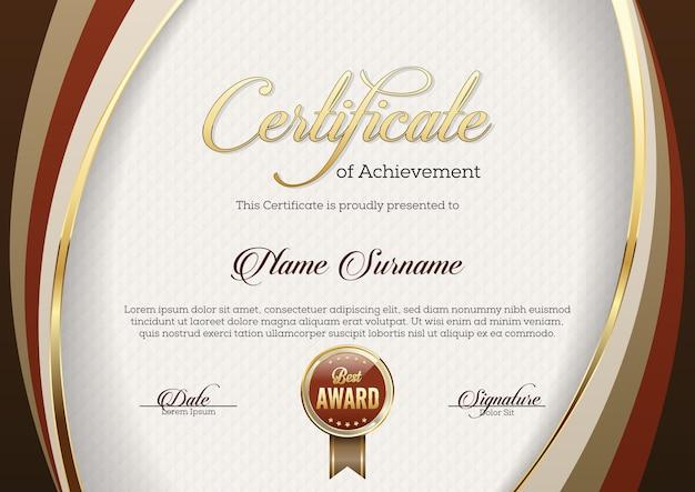 Certyfikat osiągnięcia ilustracji