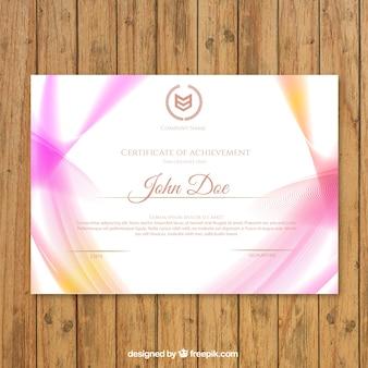 Certyfikat osiągnięcia z form falistych