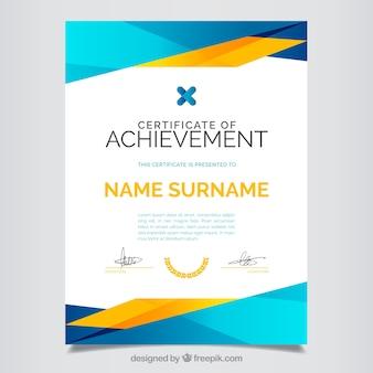 Certyfikat osiągnięcie, pełny kolor