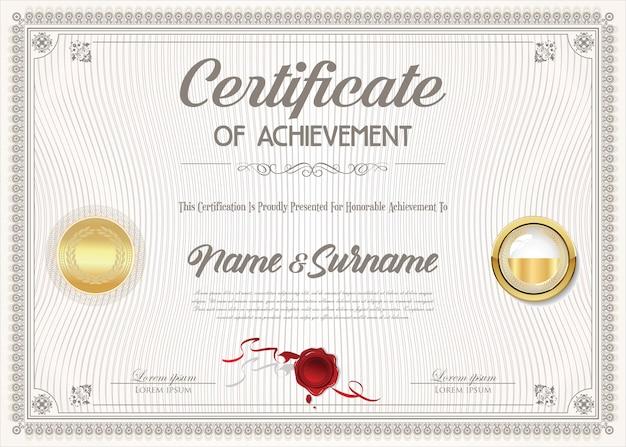 Certyfikat projektu osiągnięcia