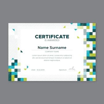 Certyfikat streszczenie szablon geometryczny