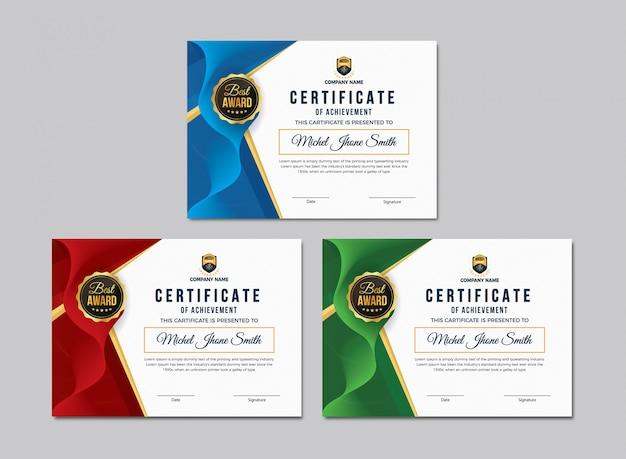 Certyfikat szablonu osiągnięć