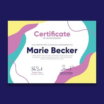 Certyfikat uznania z efektem płynnym