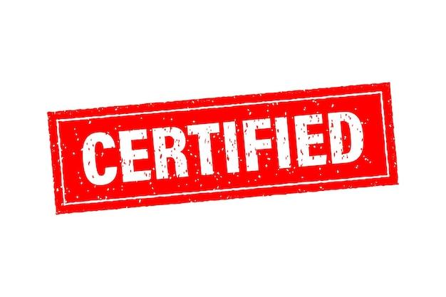 Certyfikowany czerwony szablon biznesowy