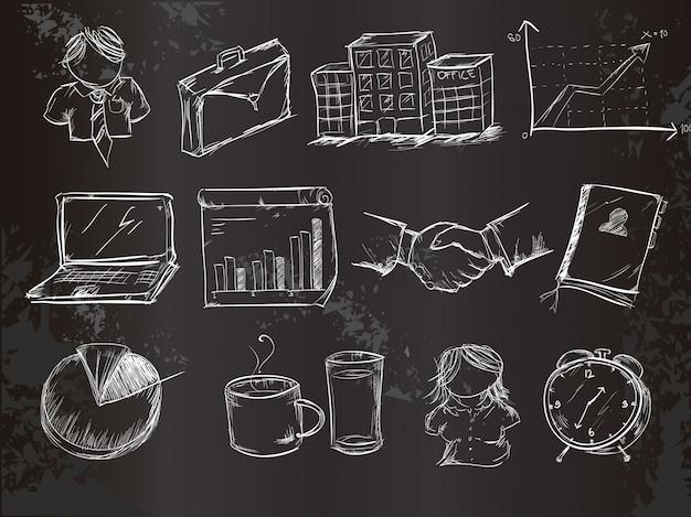 Chalk kolekcja elementów biznesowych