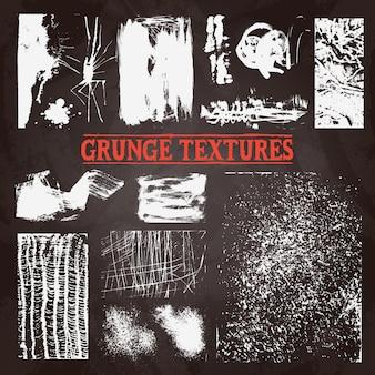 Chalkboard grunge tekstury set