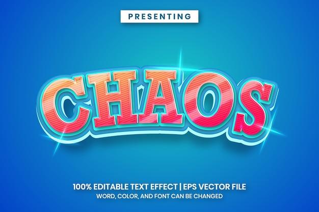 Chaos - nowoczesny efekt tekstowy gradientu