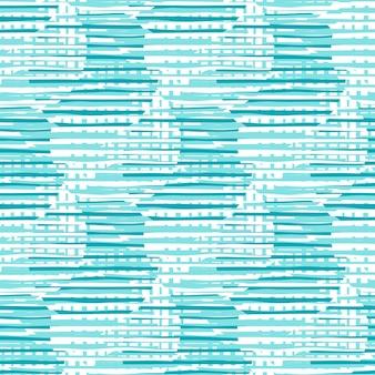Chaotyczne linie koła wzór. streszczenie koła kształty i paski ilustracja wzór.