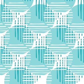 Chaotyczne linie koła wzór w kolorze zielonym. streszczenie koła kształty i paski ilustracja wzór.