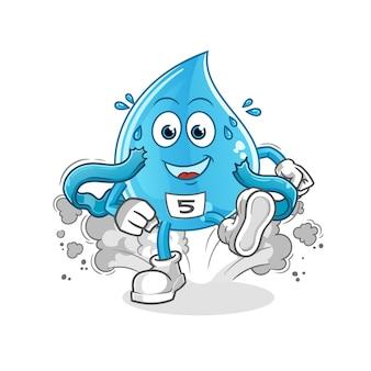 Charakter biegacza kropli wody
