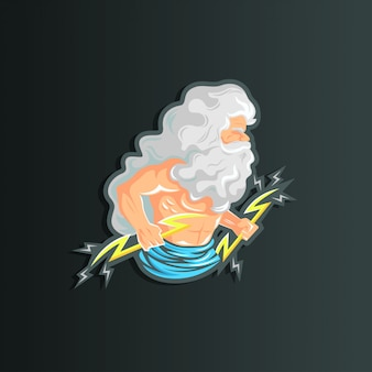 Charakter ilustracja zeusa