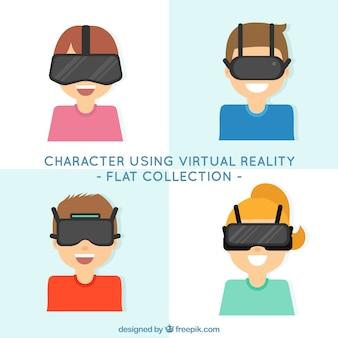 Charakter kolekcji za pomocą wirtualnych okularów rzeczywistości