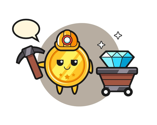 Charakter medalu jako górnik