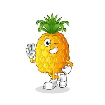 Charakter młodego chłopca ananasa