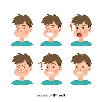 Charakter pokazujący emocje