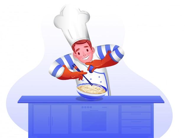 Charakter szefa kuchni.