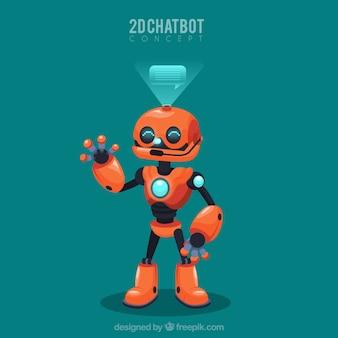 Chatbot pojęcia tło z robotem