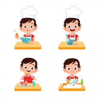 Chef kids cooking