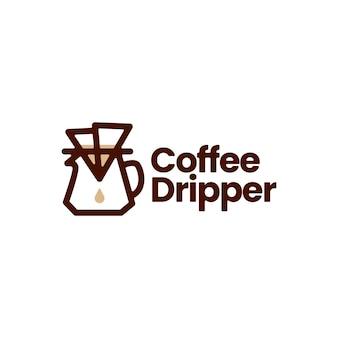 Chemex kawy dripper papierowy filtr logo wektor ikona ilustracja
