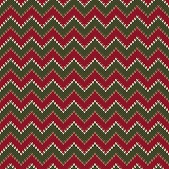 Chevron abstrakcyjny wzór dzianiny sweter. bezszwowe tło wektor. imitacja tekstury dzianiny wełnianej.