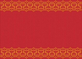 Chińska złoto rama na knited czerwonym tle