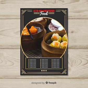 Chiński ulotki żywności