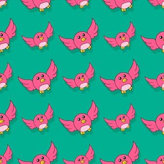 Chick papuga bezszwowe powtórzyć wzór. tło wektor ilustracja.